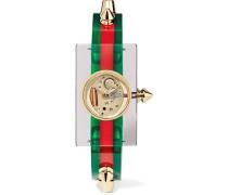 Uhr aus Plexiglas® mit Goldfarbenen Details