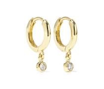 Huggies Creolen aus 18 Karat  mit Diamanten