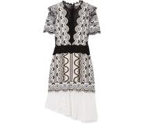 Lola Asymmetrisches Kleid aus Guipure-spitze aus einer Baumwollmischung