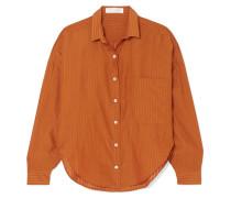 The Iris Gestreiftes Hemd aus Voile aus einer Mischung aus Wolle, Baumwolle und Seide