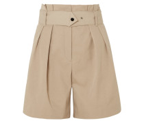 Waoi Shorts aus Canvas mit Falten und Gürtel