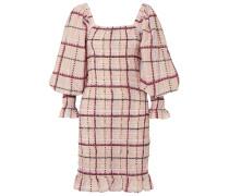 Minikleid aus einer Karierten Baumwoll-seidenmischung