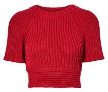 Verkürzter Pullover aus Gerippter Baumwolle