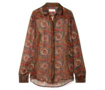 Hemd aus Bedrucktem Chiffon aus einer Seidenmischung