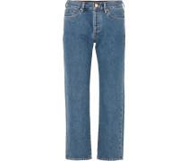 Relaxed Halbhohe Jeans mit Geradem Bein