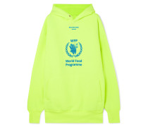 + World Food Programme Neonfarbener Hoodie aus Jersey aus einer Baumwollmischung