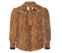 Seidenhemd mit Leopardenprint