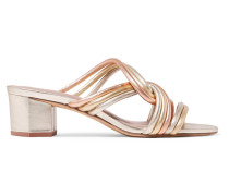 Jada Mules aus Leder in Metallic-optik