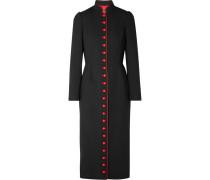 Zweifarbiger Mantel aus Crêpe aus einer Wollmischung