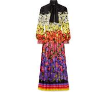 Bedruckte Robe aus Seiden-twill mit Schluppe