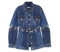 Mehrlagige Jeansjacke mit Schößchen