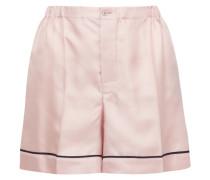 Shorts aus Seiden-twill