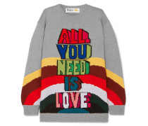 + The Beatles All You Need Is Love Oversized-wollpullover