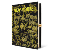The New Yorker Bestickte Clutch aus Canvas
