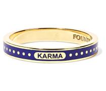 Karma Ring aus 18 Karat  mit Emaille