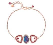 Armband aus 18 karat Rosé mit Mehreren Steinen