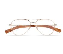 Roségoldfarbene Brille im Pilotenstil