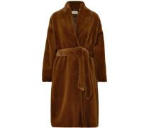 Chelsea Mantel aus Faux Fur mit Gürtel