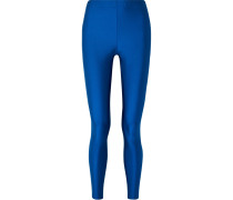 Leggings aus Technischem Jersey in Metallic-optik