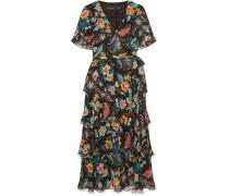 Geblümtes Kleid aus Seidenchiffon