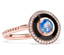Mina Emaillierter Ring aus 18 Karat