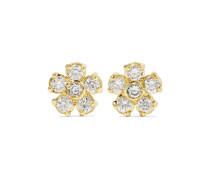 Flower Ohrringe aus 18 Karat  mit Diamanten