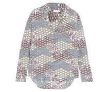 Adalyn Bedrucktes Hemd aus Vorgewaschener Seide