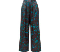 Eugene Pyjama-hose aus Seidensatin