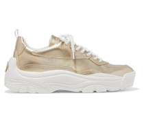 Garavani Gumboy Sneakers aus Leder in Metallic-optik