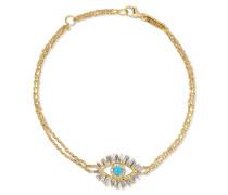 Armband aus 18 Karat  mit Diamanten und Türkis