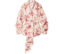 Rushcutters Bay Bedrucktes Hemd aus Baumwollpopeline
