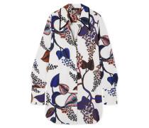 Clotilde Oversized-hemd aus Satin