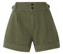 Shorts aus Twill aus einer Baumwoll-leinenmischung