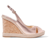 Amely 105 Wedges aus Metallic-leder