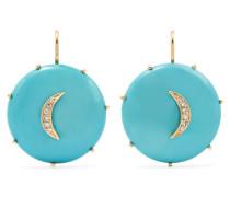 Crescent Moon Ohrringe aus 14 Karat