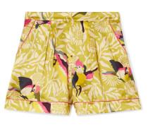 Calao Bedruckte Pyjama-shorts aus Seidensatin