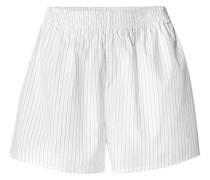 Gestreifte Shorts aus Baumwollpopeline