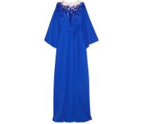 Verzierte Robe aus Stretch-seide