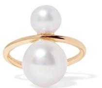 Ear Cuff aus 14 Karat  mit Perlen