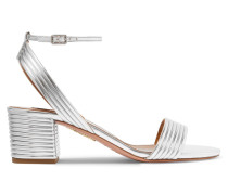 Sundance 50 Sandalen aus Metallic-kunstleder