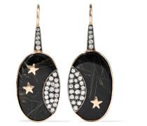 Ohrringe aus 14 Karat  mit Mehreren Steinen