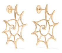 Ohrringe aus 9 Karat  mit Diamanten