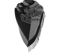 Schal aus einer Zweifarbigen Woll-kaschmirmischung