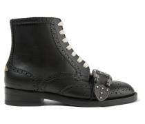 Queercore Verzierte Ankle Boots aus Leder