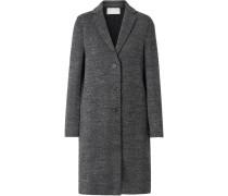 Mantel aus Woll-tweed mit Fischgratmuster