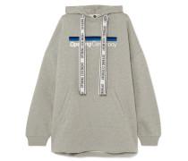 Torch Bedruckter Oversized-hoodie aus Baumwoll-jersey