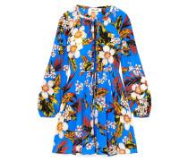 Floral Bedrucktes Minikleid aus Seiden-jersey