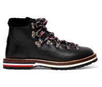Blanche Ankle Boots aus Leder mit Samtbesatz