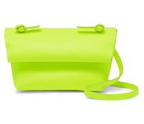 Mini Neonfarbene Schultertasche aus Leder