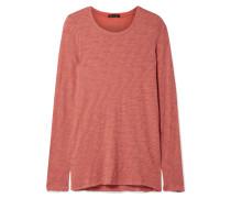 Distressed-oberteil aus Flammgarn-jersey aus Baumwolle